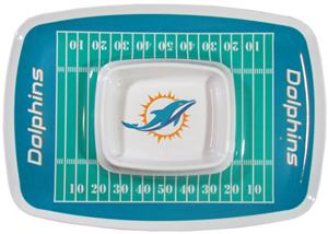 NFL Miami Dolphins Chip & Dip Tray