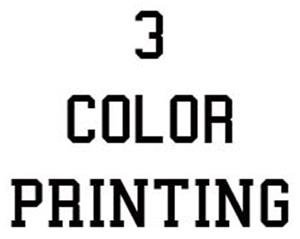 (3-Color) Soccer Jersey Logo Printing