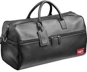 Rawlings Premium Heart/Hide Blk Leather Duffel Bag