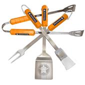 BSI MLB Houston Astros 4 Piece BBQ Grilling Set