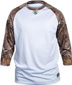 Louisville Slugger Loose-Fit 3/4 Sleeve Camo Shirt