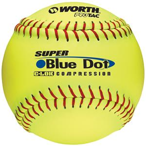 "Worth 12"" Blue Dot ProTac Slowpitch Softballs"