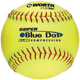 "Worth 12"" Blue Dot ProTac Slowpitch Softballs"