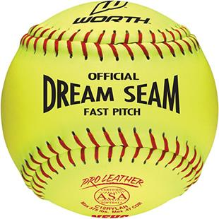 "Worth 12"" ASA Dream Seam PL Fastpitch Softballs EA"