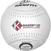 "Worth 12"" ASA K-Master White Fastpitch Softballs"