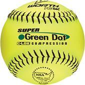 "Worth 11"" NSA Green Dot ProTac Slowpitch Softballs"