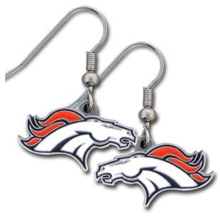 Silver Moon Denver Broncos Short Dangle Earrings