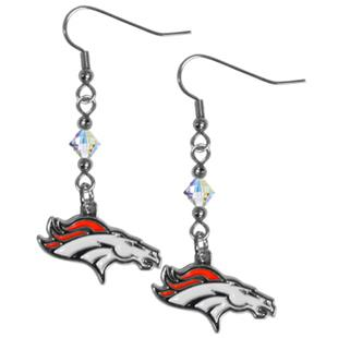 Silver Moon Denver Broncos Long Dangle Earrings