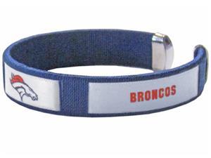 Silver Moon NFL Denver Broncos Woven Cuff Bracelet