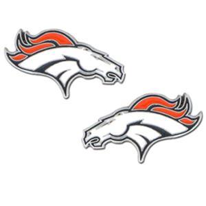 Silver Moon NFL Denver Broncos Stud Earrings