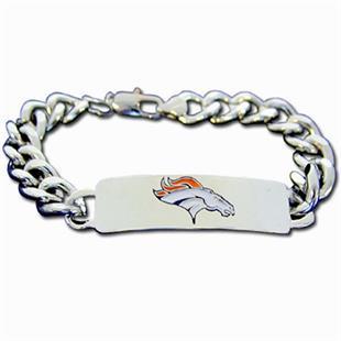 Silver Moon NFL Denver Broncos Steel ID Bracelet