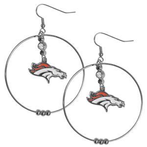 Silver Moon NFL Denver Broncos Hoop Earrings