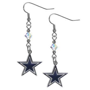 Silver Moon Dallas Cowboys Long Dangle Earrings