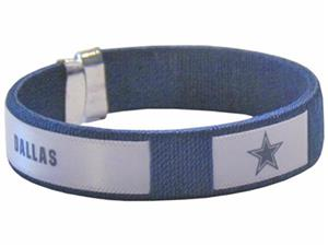 Silver Moon NFL Dallas Cowboys Woven Cuff Bracelet