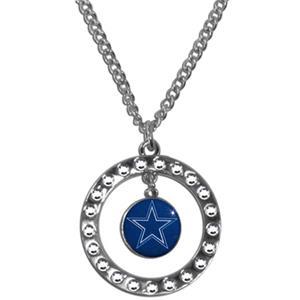 Silver Moon NFL Dallas Cowboys CZ Necklace