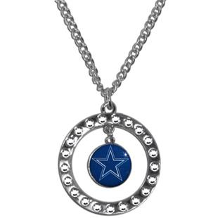 Silver Moon NFL Dallas Cowboys CZ Necklace