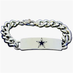 Silver Moon NFL Dallas Cowboys Steel ID Bracelet