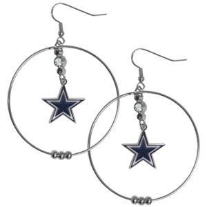Silver Moon NFL Dallas Cowboys Hoop Earrings