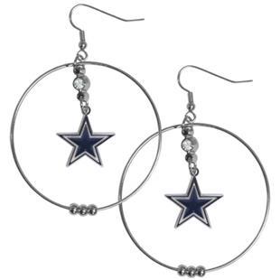 Silver Moon NFL Dallas Cowboys Hoop Earrings