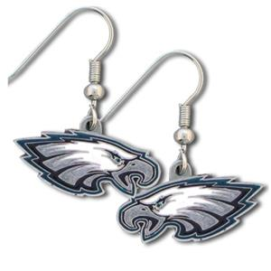 Silver Moon NFL Eagles Short Dangle Earrings