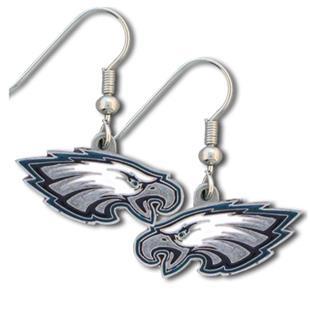 Silver Moon NFL Eagles Short Dangle Earrings