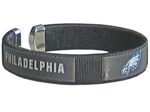 Silver Moon NFL Eagles Woven Cuff Bracelet