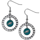 Silver Moon NFL Philadelphia Eagles CZ Earrings