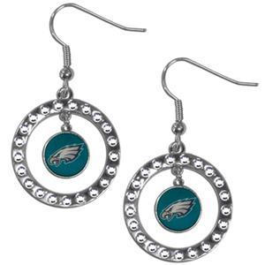 Silver Moon NFL Philadelphia Eagles CZ Earrings