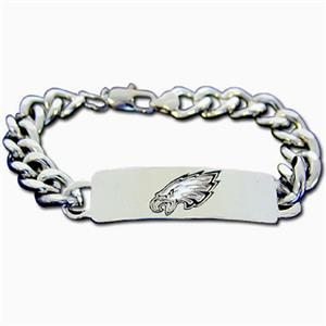 Silver Moon Philadelphia Eagles Steel ID Bracelet