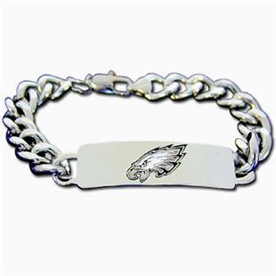 Silver Moon Philadelphia Eagles Steel ID Bracelet