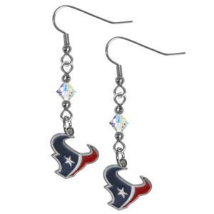 Silver Moon Houston Texans Long Dangle Earrings