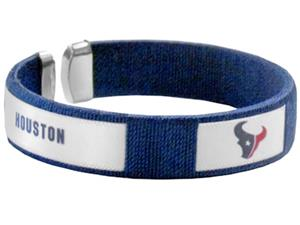 Silver Moon NFL Houston Texans Woven Cuff Bracelet