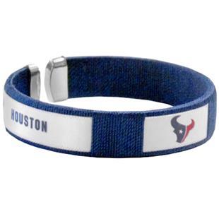 Silver Moon NFL Houston Texans Woven Cuff Bracelet
