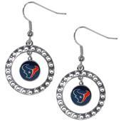Silver Moon NFL Houston Texans CZ Earrings