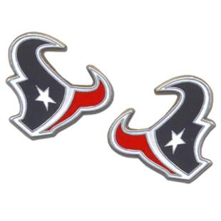 Silver Moon NFL Houston Texans Stud Earrings