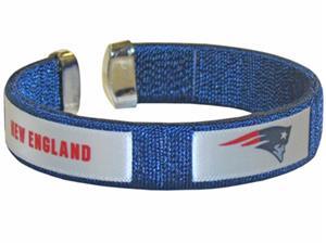 Silver Moon NFL Patriots Woven Cuff Bracelet