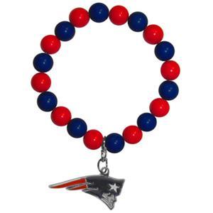 Silver Moon NFL New England Patriots Bead Bracelet