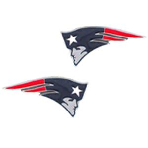 Silver Moon NFL New England Patriots Stud Earrings