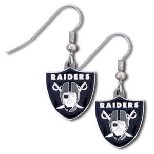 Silver Moon Oakland Raiders Short Dangle Earrings