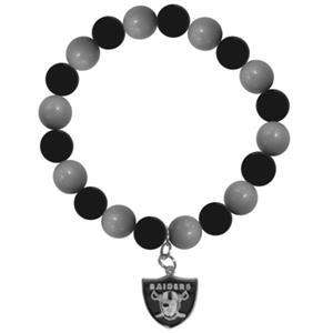 Silver Moon NFL Oakland Raiders Bead Bracelet