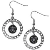 Silver Moon NFL Oakland Raiders CZ Earrings