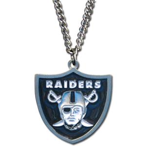 Silver Moon NFL Oakland Raiders Charm Neckace