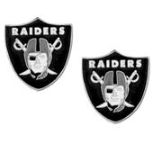 Silver Moon NFL Oakland Raiders Stud Earrings