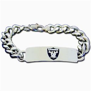 Silver Moon NFL Oakland Raiders Steel ID Bracelet
