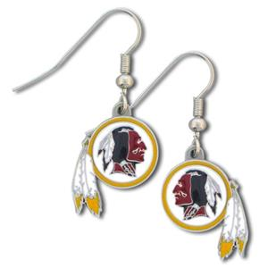 Silver Moon NFL Redskins Short Dangle Earrings