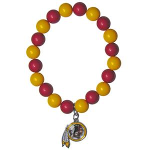 Silver Moon NFL Washington Redskins Bead Bracelet