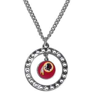 Silver Moon NFL Washington Redskins CZ Earrings
