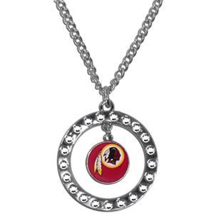 Silver Moon NFL Washington Redskins CZ Necklace