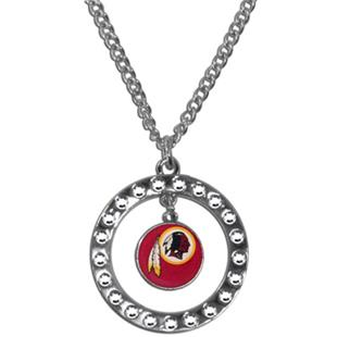 Silver Moon NFL Washington Redskins CZ Necklace