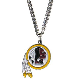 Silver Moon NFL Washington Redskins Charm Necklace